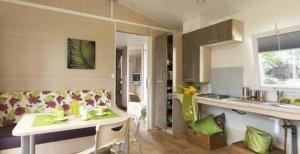 Cottage Vivario  PMR coin séjour et cuisine location