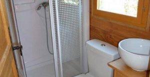 La Roulotte Robinson salle d'eau location
