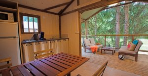 Safari Lodge séjour avec vue exterieur location